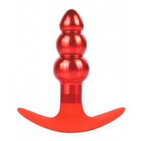 Анальная втулка красного цвета - 9,6 см.