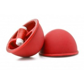 Красные вакуумные присоски с вибрацией Vibrating Suction Cup