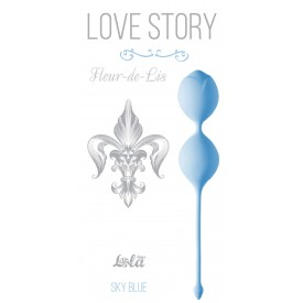 Голубые вагинальные шарики Fleur-de-lisa